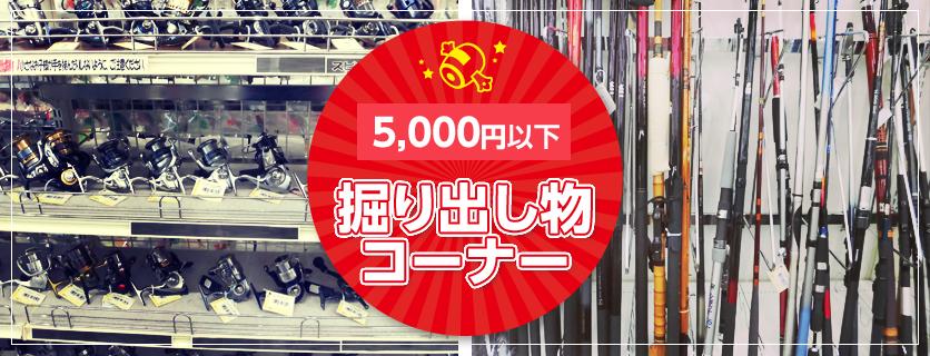 5000円以下【掘り出し物コーナー】
