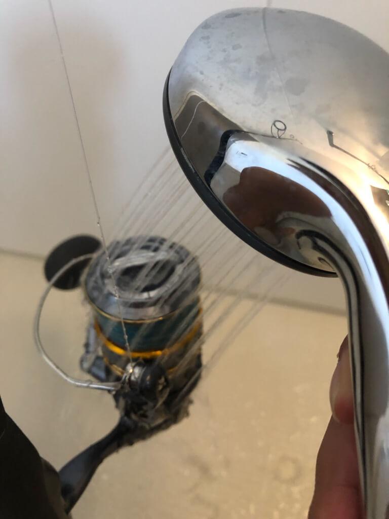 スピニングリール洗浄